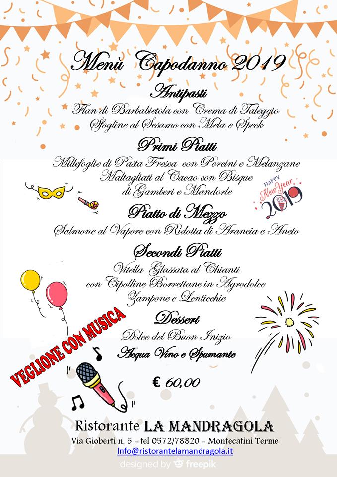 Capodanno 2019 La Mandragola Montecatini Terme