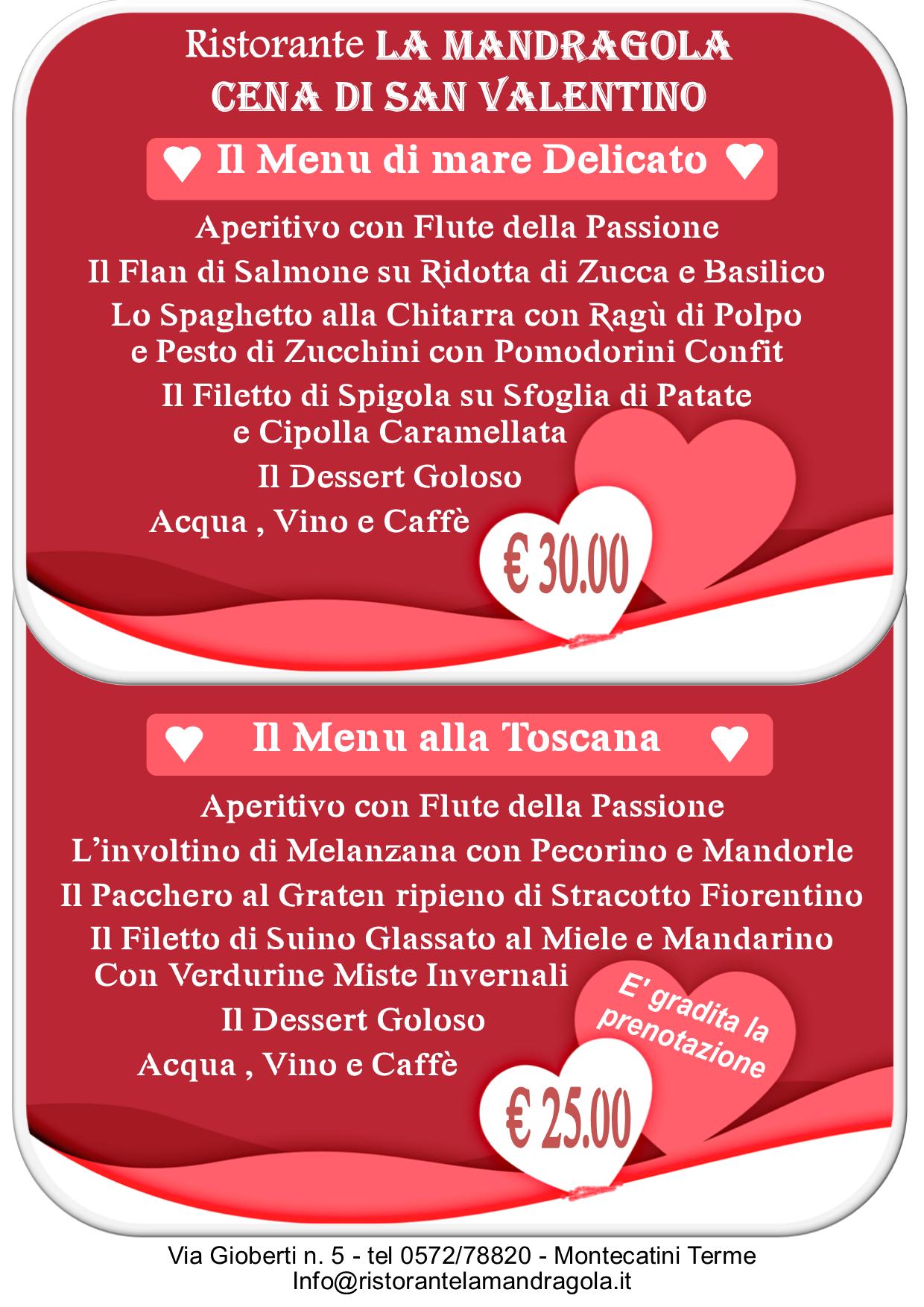 San Valentino Offerta 2019