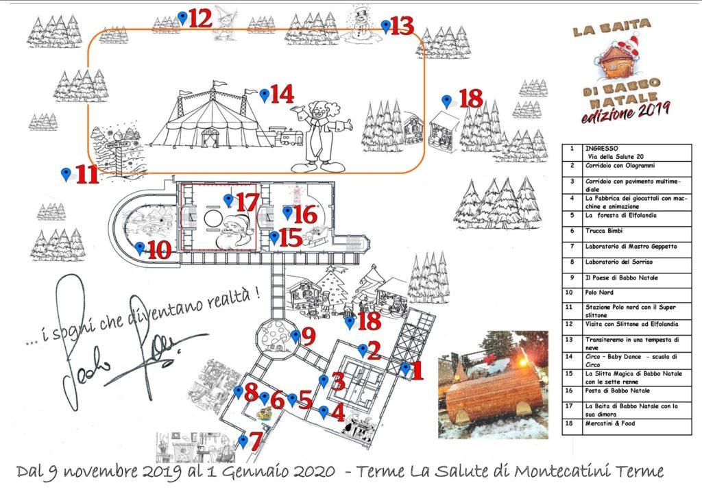 Mappa Baita di Babbo Natale
